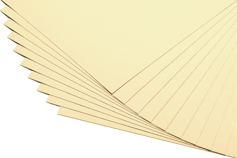 Barevné papíry vanilkové - 20 listů A4 - 130g