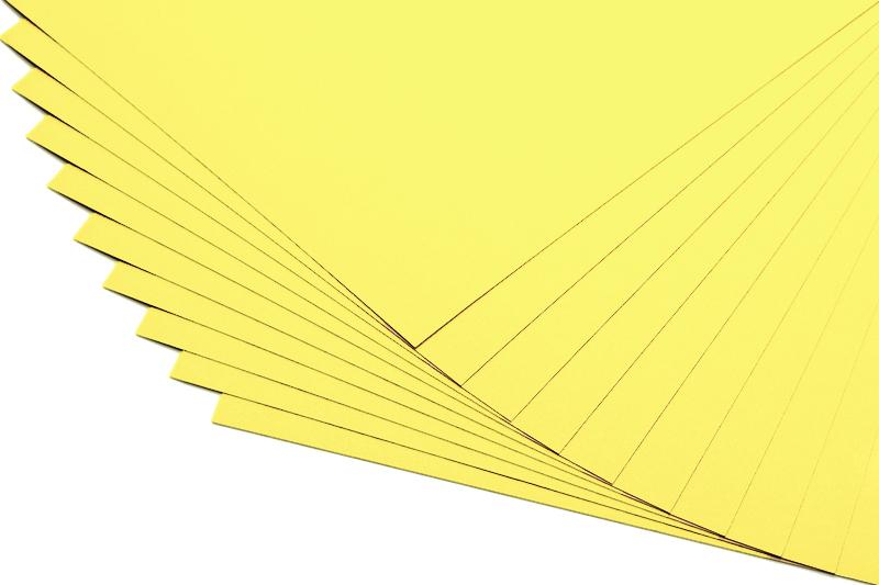 Barevné papíry citronově žluté - 20 listů A4 - 130g