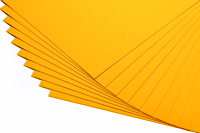 Barevné papíry mango - 20 listů A4 - 130g