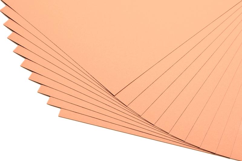 Barevné papíry meruňkové - 20 listů A4 - 130g