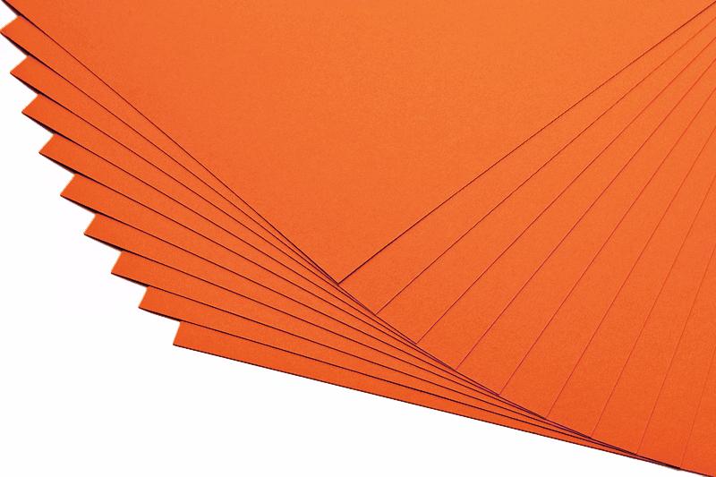 Barevné papíry oranžové - 20 listů A4 - 130g