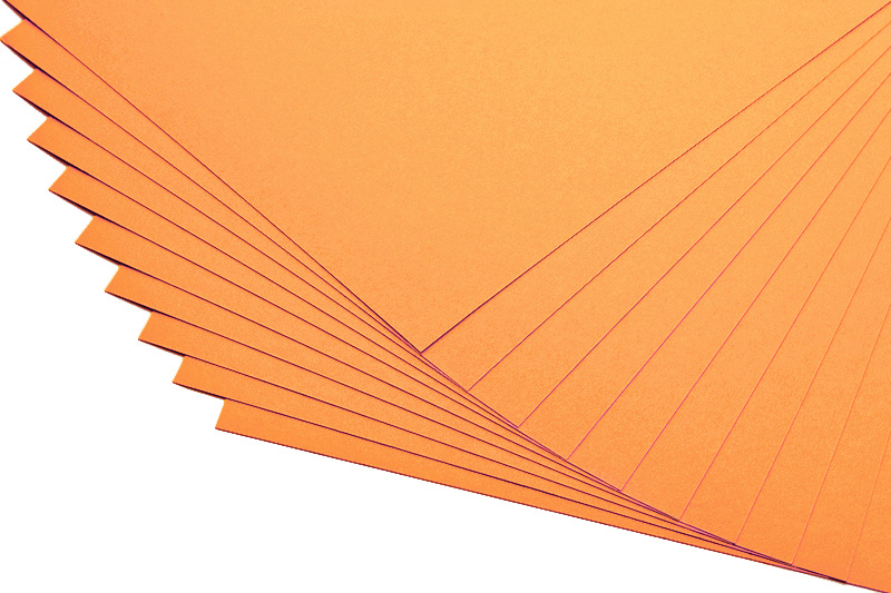 Barevné papíry mandarinka - 20 listů A4 - 130g