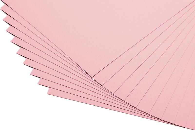 Barevné papíry světle růžové - 20 listů A4 - 130g
