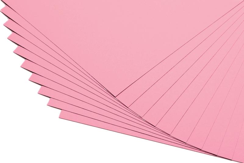 Barevné papíry růžové - 20 listů A4 - 130g