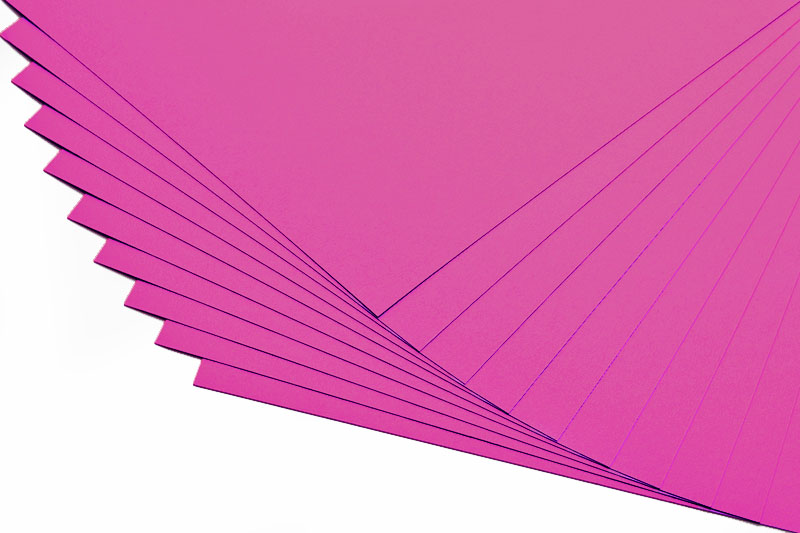 Barevné papíry tmavě růžové - 20 listů A4 - 130g