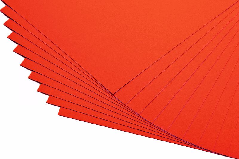 Barevné papíry světle červené - 20 listů A4 - 130g