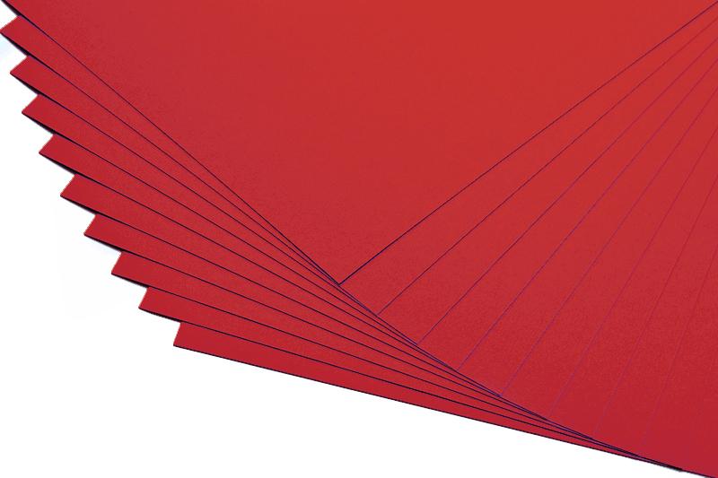 Barevné papíry tmavě červené - 20 listů A4 - 130g
