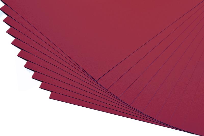 Barevné papíry bordó - 20 listů A4 - 130g