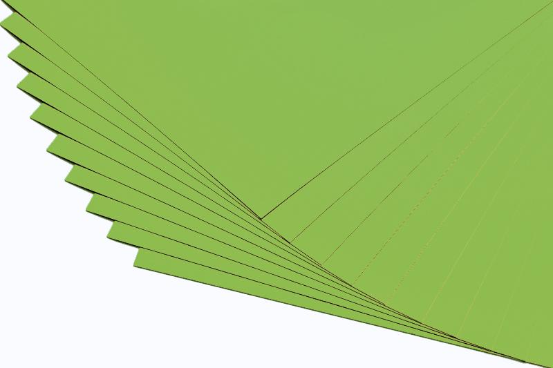 Barevné papíry limetka - 20 listů A4 - 130g