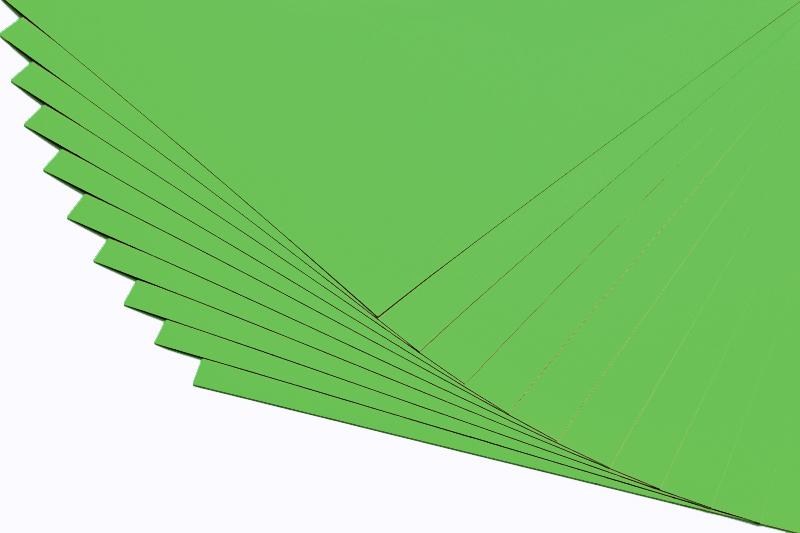 Barevné papíry trávově zelené - 20 listů A4 - 130g