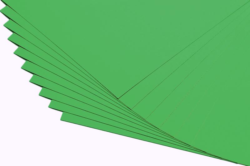 Barevné papíry zelené - 20 listů A4 - 130g