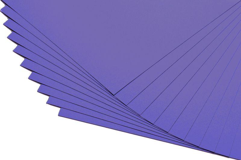 Barevné papíry tmavě fialové - 20 listů A4 - 130g
