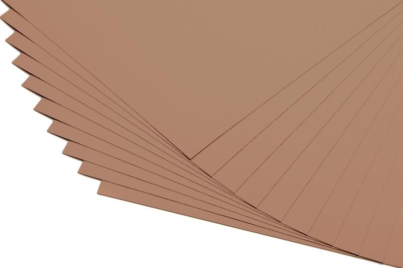 Barevné papíry karamel - 20 listů A4 - 130g
