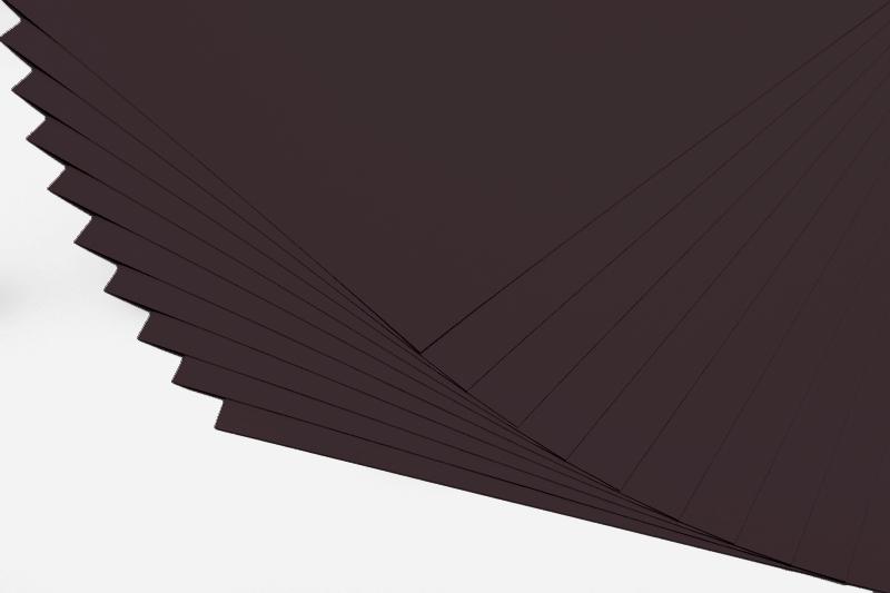 Barevné papíry černé - 20 listů A4 - 130g