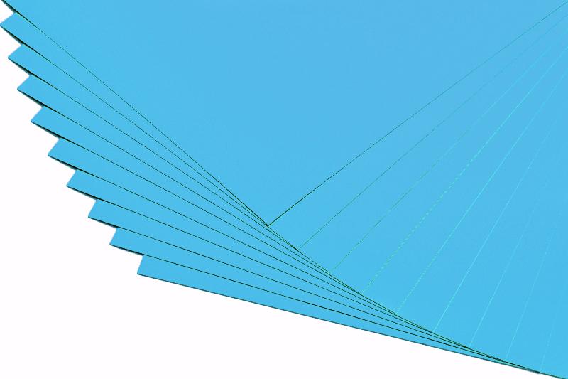 Barevné papíry aqua - 20 listů A4 - 130g