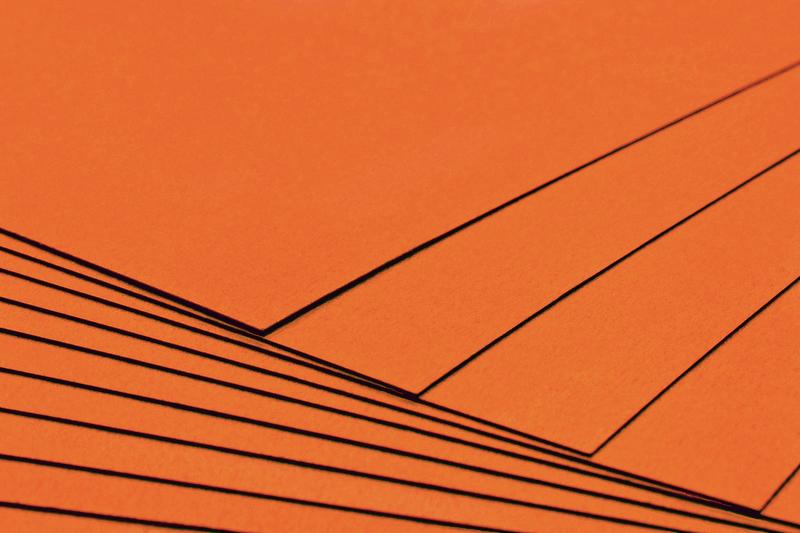 Tvrdý kreativní papír oranžový A4 - 300g