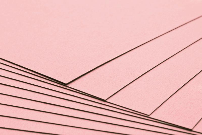 Tvrdý kreativní papír světle růžový A4 - 300g