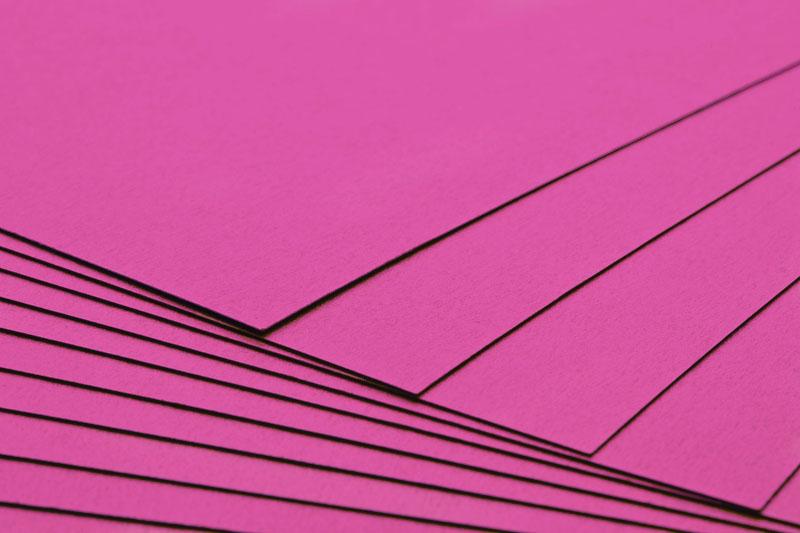 Tvrdý kreativní papír sytě růžový A4 - 300g