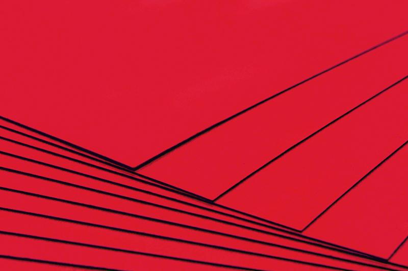 Tvrdý kreativní papír červený A4 - 300g