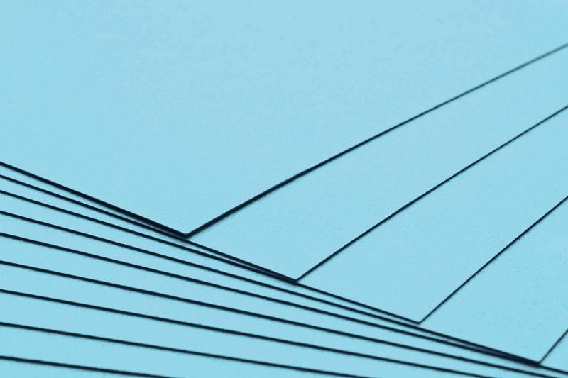 Tvrdý kreativní papír světle modrý A4 - 300g