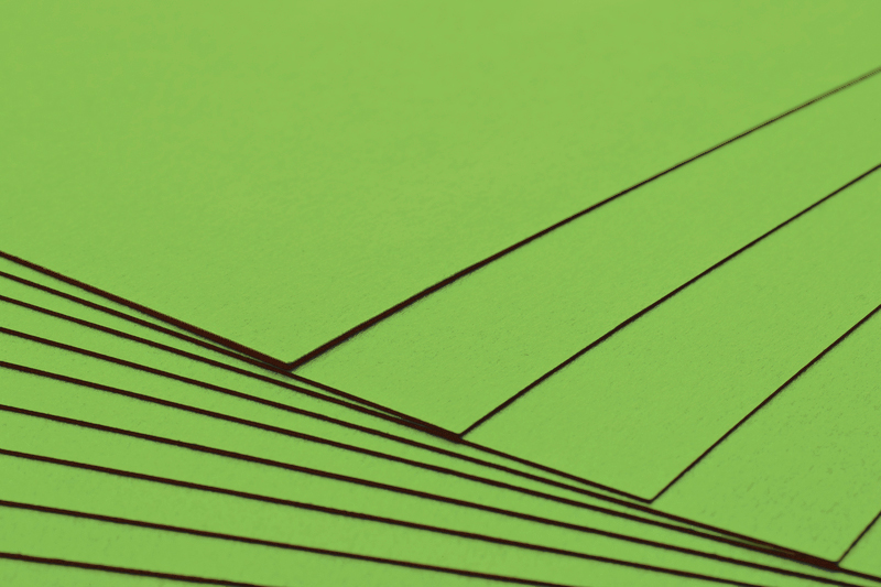 Tvrdý kreativní papír limetkově zelený A4 - 300g