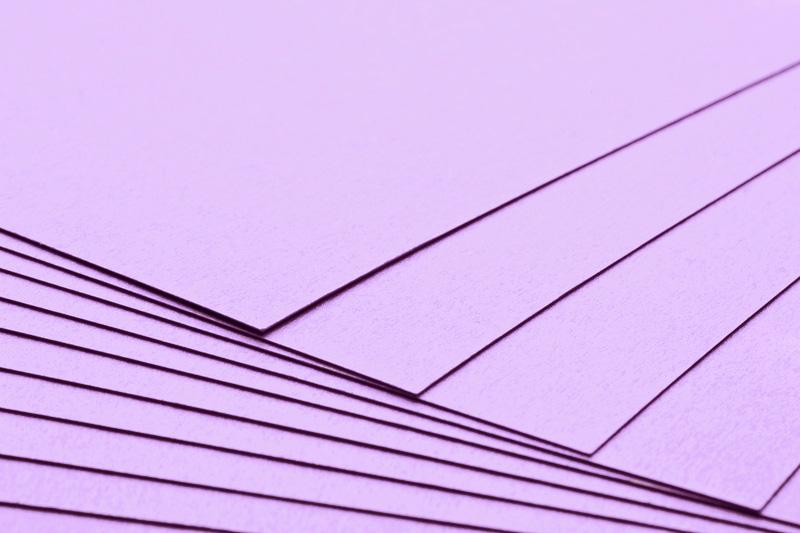 Tvrdý kreativní papír světle fialový A4 - 300g