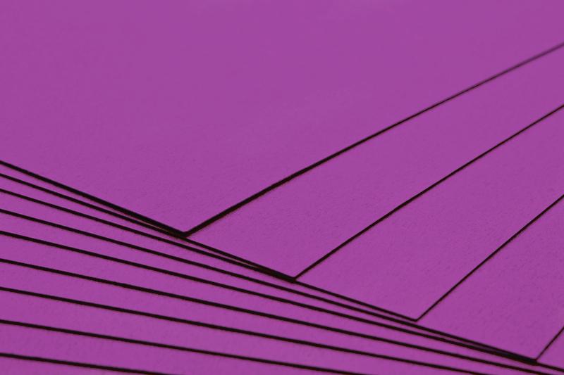 Tvrdý kreativní papír tmavě růžový A4 - 300g
