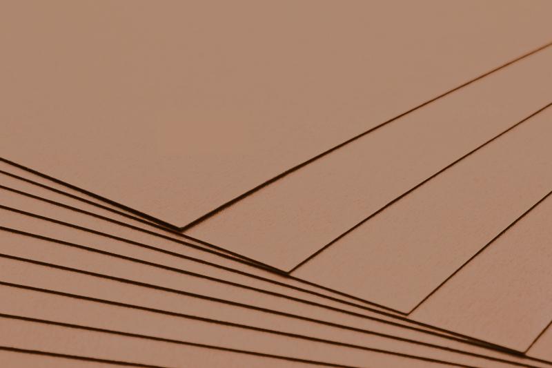 Tvrdý kreativní papír karamelový A4 - 300g