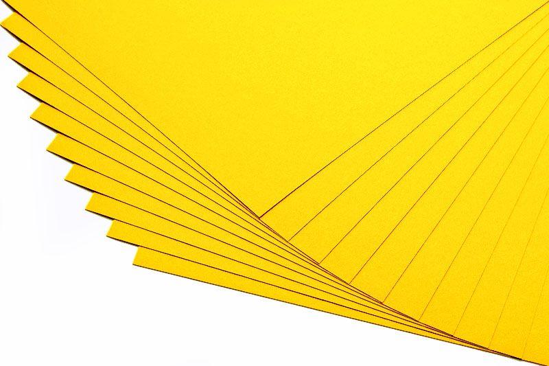 Barevné papíry slunečně žluté - 20 listů A4 - 130g