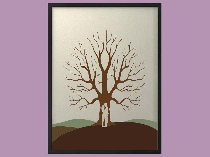 Svatební strom 5 v rámu 53 x 73 cm