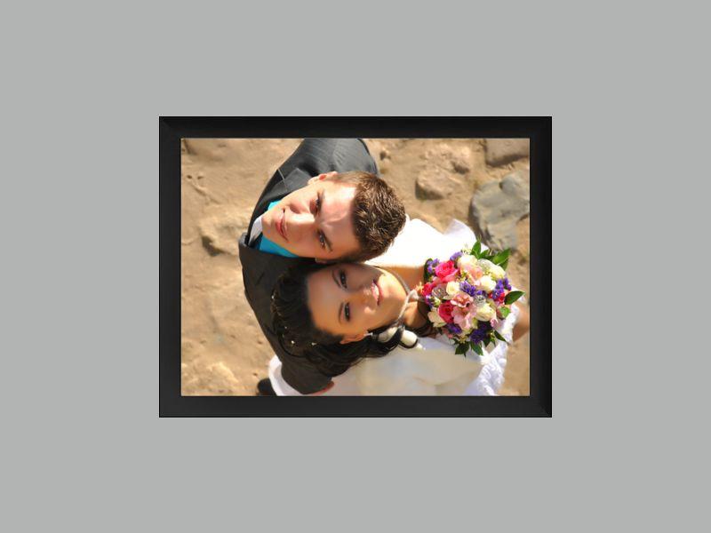 Velkoformátová fotografie 40x30 cm v černém rámu