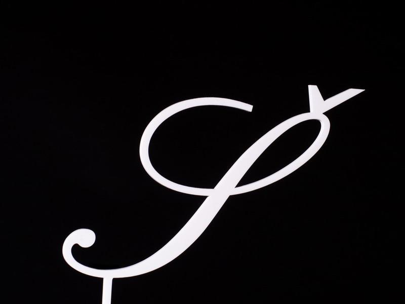 Písmeno na dort - Š - bílé