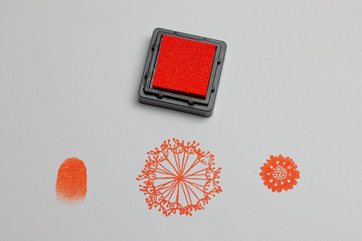 Razítkovací polštářek - Oranžový