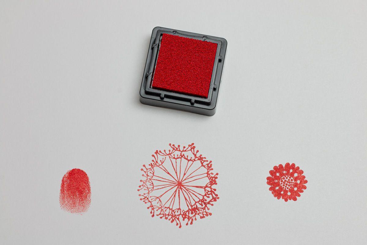 Razítkovací polštářek - Červený