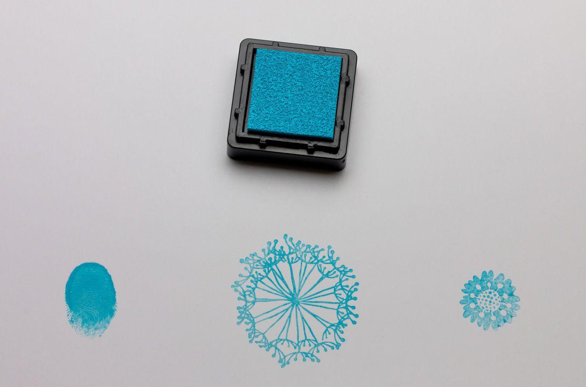 Razítkovací polštářek - světle modrý