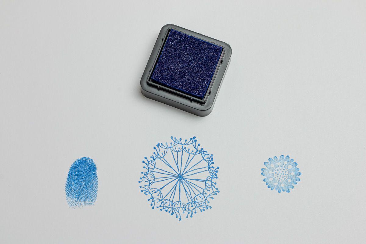 Razítkovací polštářek - modrý