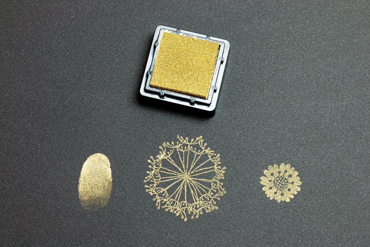 Razítkovací polštářek - zlatý
