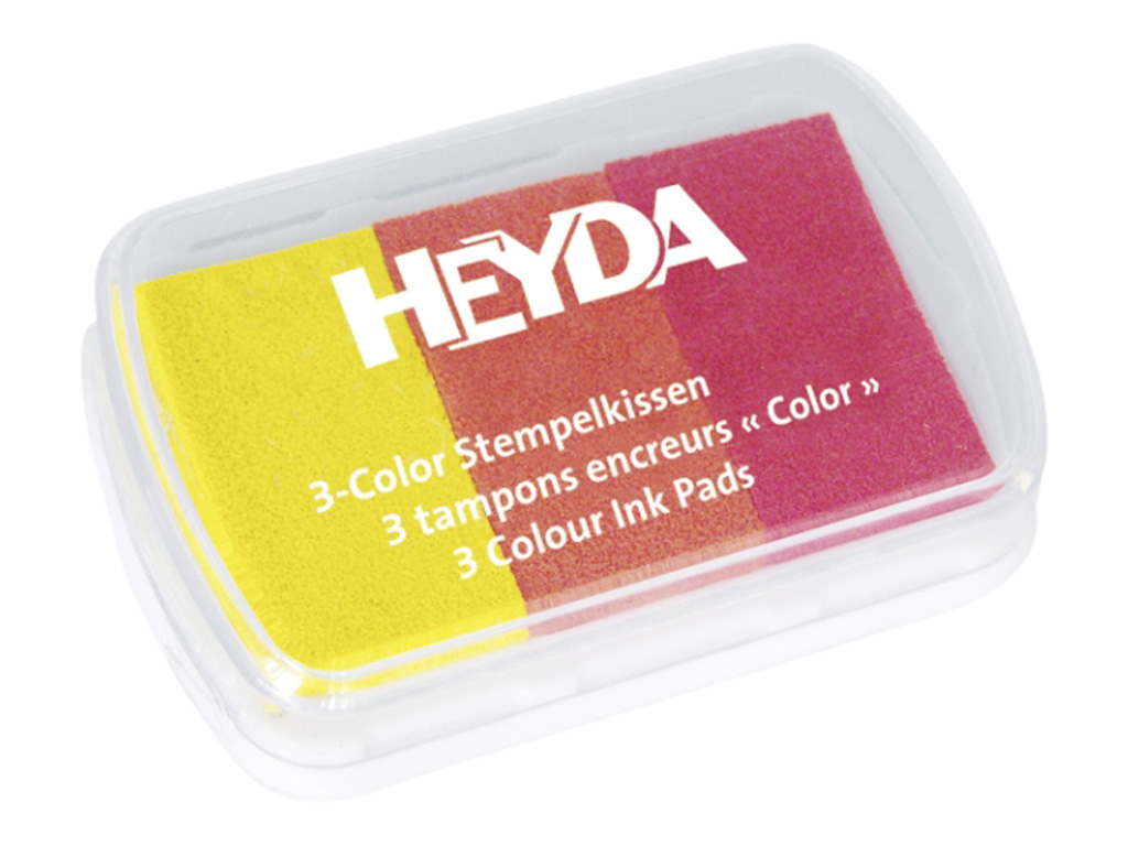 Razítkovací polštářek - žlutý, oranžový, červený