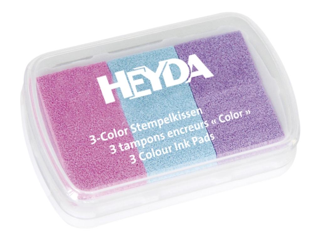 Razítkovací polštářek - růžový/tyrkysový/fialový