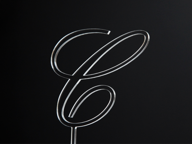 Písmeno na dort - C - čiré