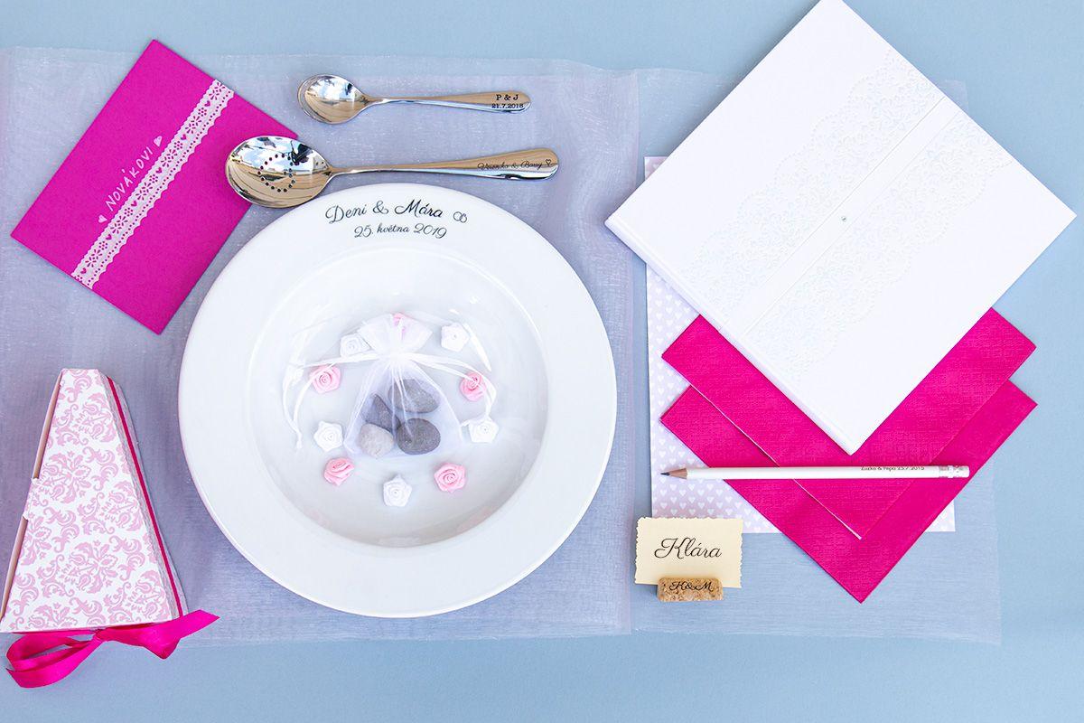Svatební talíř s gravírováním