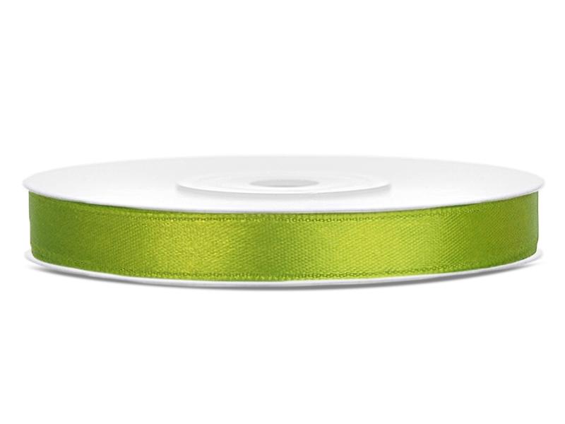 Zelené saténové stuhy - 25 m / 1,2 cm