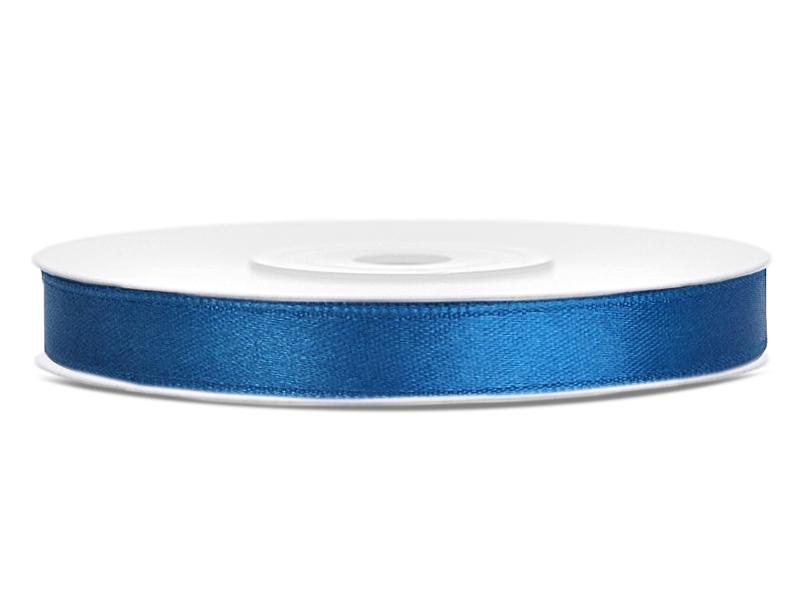Modré saténové stuhy - 25 m / 1,2 cm