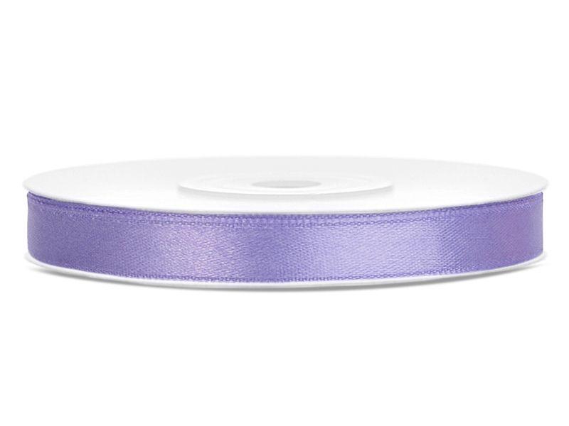 Saténové stuhy lila - 25 m / 1,2 cm