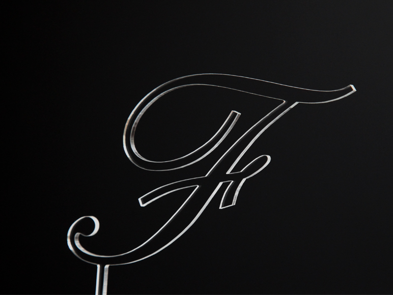Písmeno na dort - F - čiré