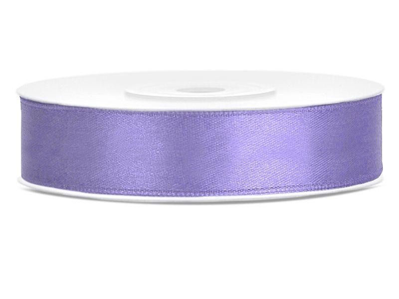 Saténové stuhy lila - 25 m / 2,5 cm