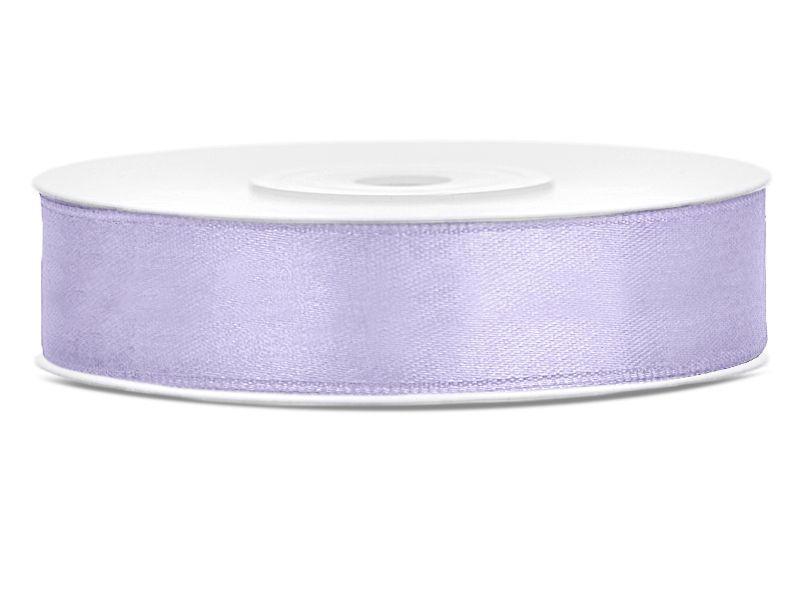 Saténové stuhy světlá lila - 25 m / 2,5 cm
