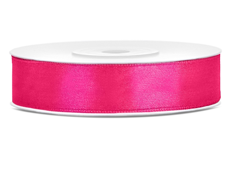 Tmavě růžové saténové stuhy - 25 m / 2,5 cm