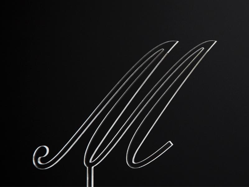 Písmeno na dort - M - čiré