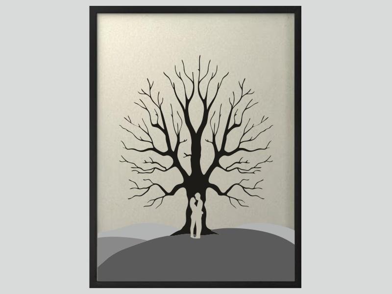 Svatební strom 6 v rámu 53 x 73 cm